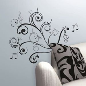🌷RoomMates Music Note Scroll Peel and Stick Wall
